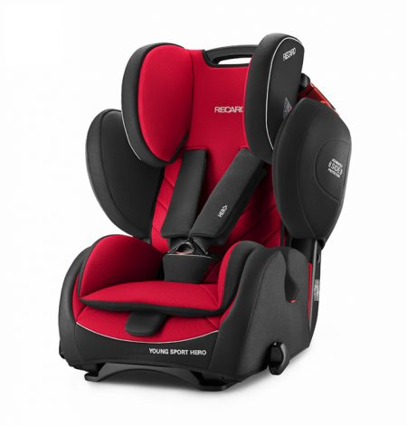 Recaro young sport hero Racing Red car seat 9 months - 12 years group 123