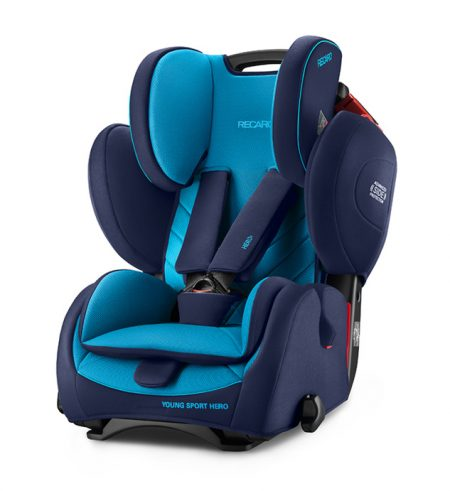 Recaro young sport hero Xenon Blue car seat 9 months - 12 years group 123