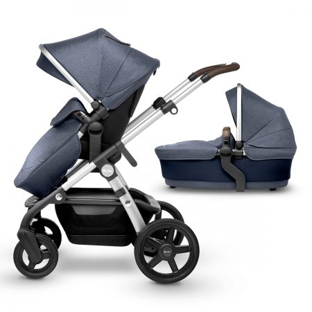 Silver cross wave pushchair and carrycot midnight