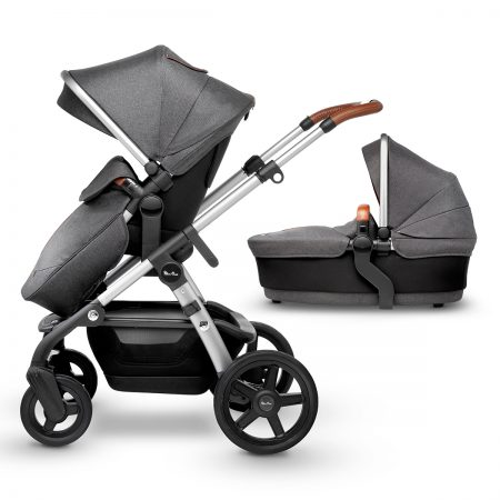 Silver cross wave pushchair carrycot granite
