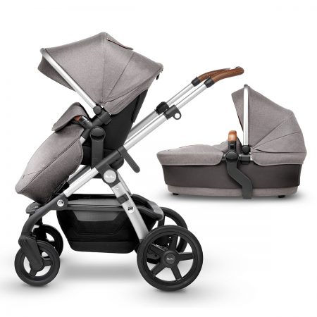 Silver cross wave sable with pushchair and carrycot