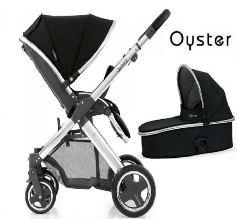 Babystyle Oyster 2 Pushchair & Carrycot Chrome / Black Handle - Choose Your Colour