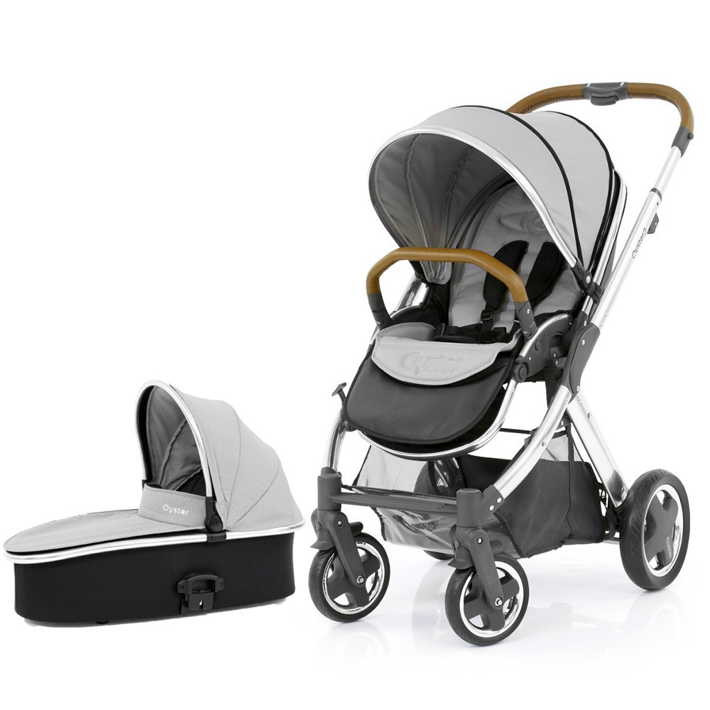 Babystyle Oyster Pushchair & Carrycot Chrome / Tan Chassis - Choose Your Colour