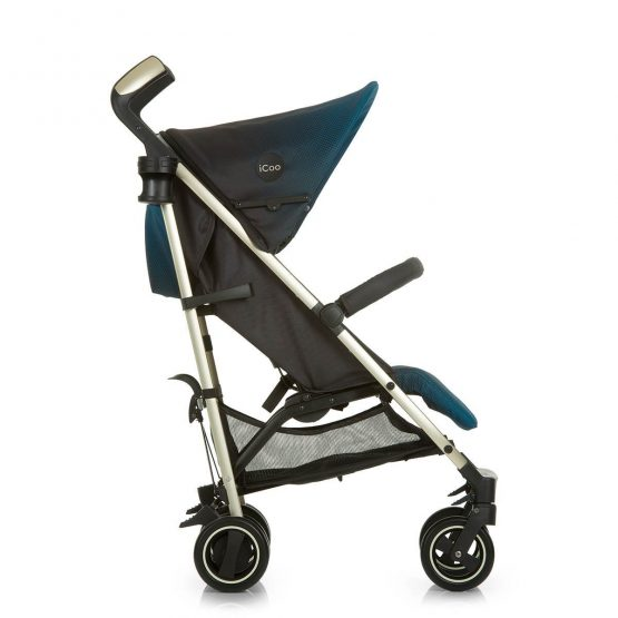 icoo indigo pushchair side view indigo blue