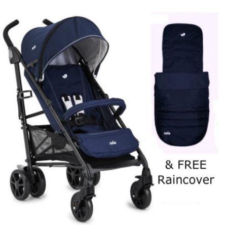 joie brisk lx light strong pushchair buggy stroller birth to 3 years navy
