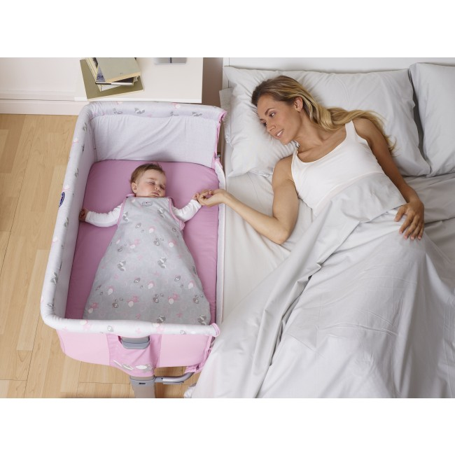 New bed side baby crib chicco next 2 me drop side in for Lit next to me
