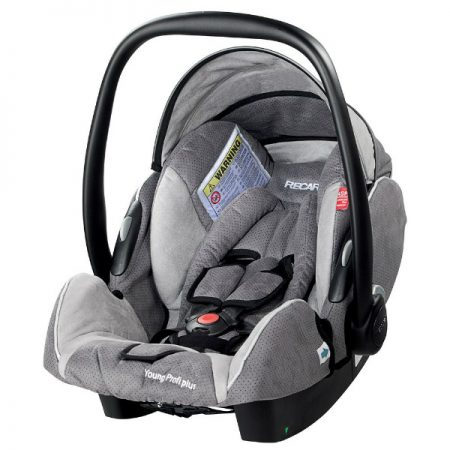 recaro young profi shadow grey car seat front
