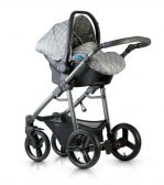 Venicci 3v grey car seat on chassis