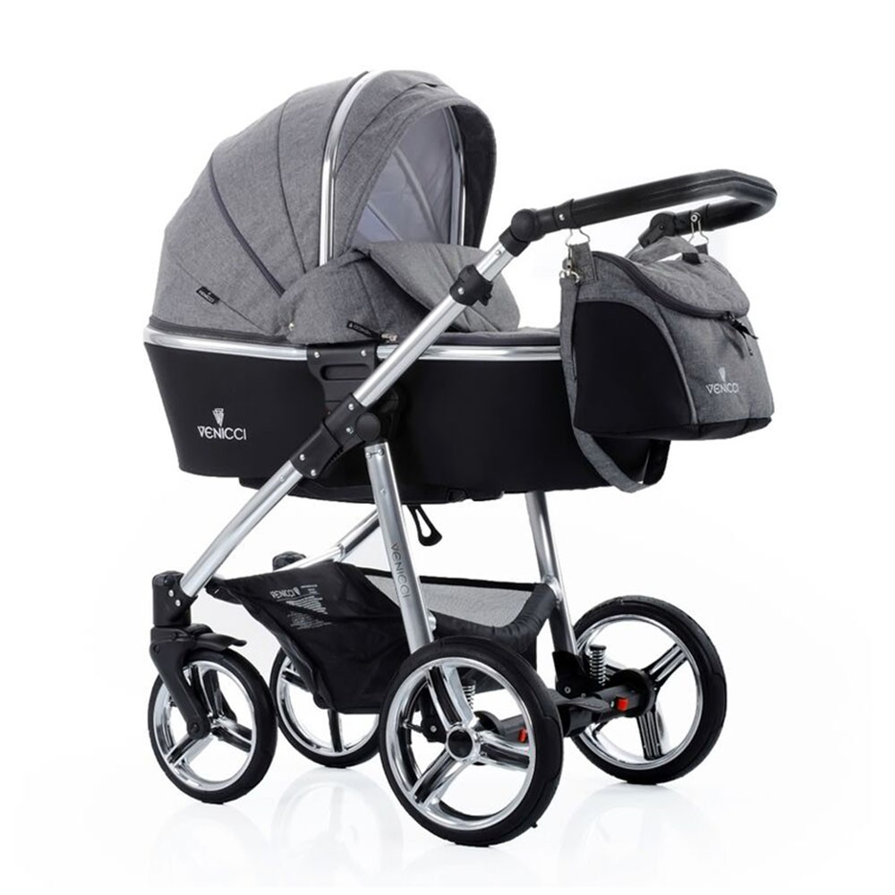 Venicci Denim Grey 3 In 1 Package Pushchair Carrycot