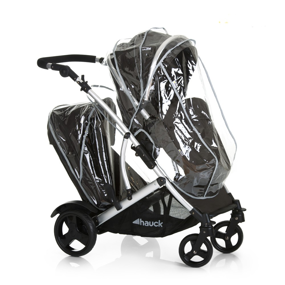 hauck duett twin 2 pushchair tandem stroller black with. Black Bedroom Furniture Sets. Home Design Ideas