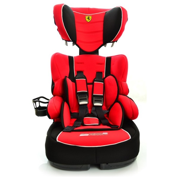 Beline Ferrari Hi Back Booster Child Car Seat With Harness Side Front
