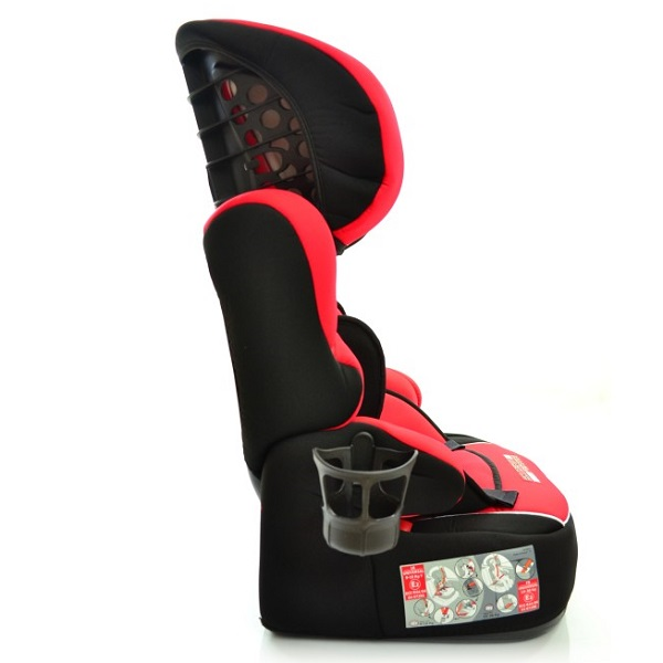 Beline Ferrari Hi Back Booster Child Car Seat With Harness Side