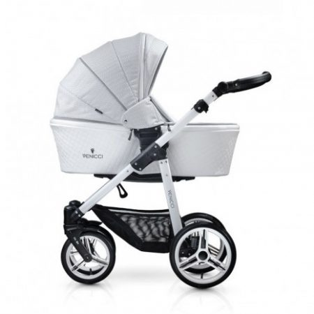 Venicci Pure Stone Grey Pushchair, Carrycot & Car Seat