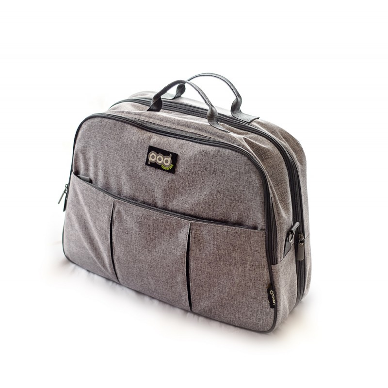 Bizzi Growin Pod Travel Changing Bag - Melange Grey