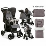 hauck shopper shop n drive duo travel system stone grey & Bag Footmuff