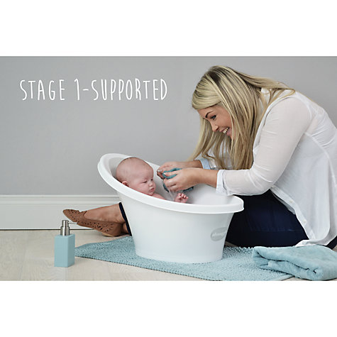 Shnuggle Grey Baby Bath & New Foldable Stand From Birth -12 Months