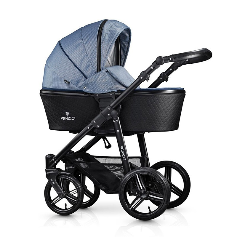 Venicci Pure Leatherette Midnight Blue Pushchair Carrycot
