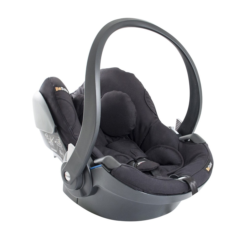 BeSafe IZi Go Modular Car Seat Baby Carrier From Birth to 9kg - Black Cab