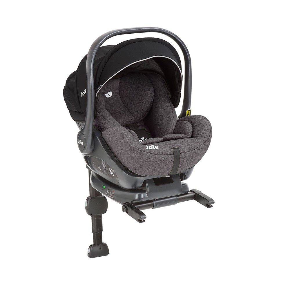 Joie i-Level iSize 0+ lie flat Car Seat and ISOFIX Base - Ember Grey