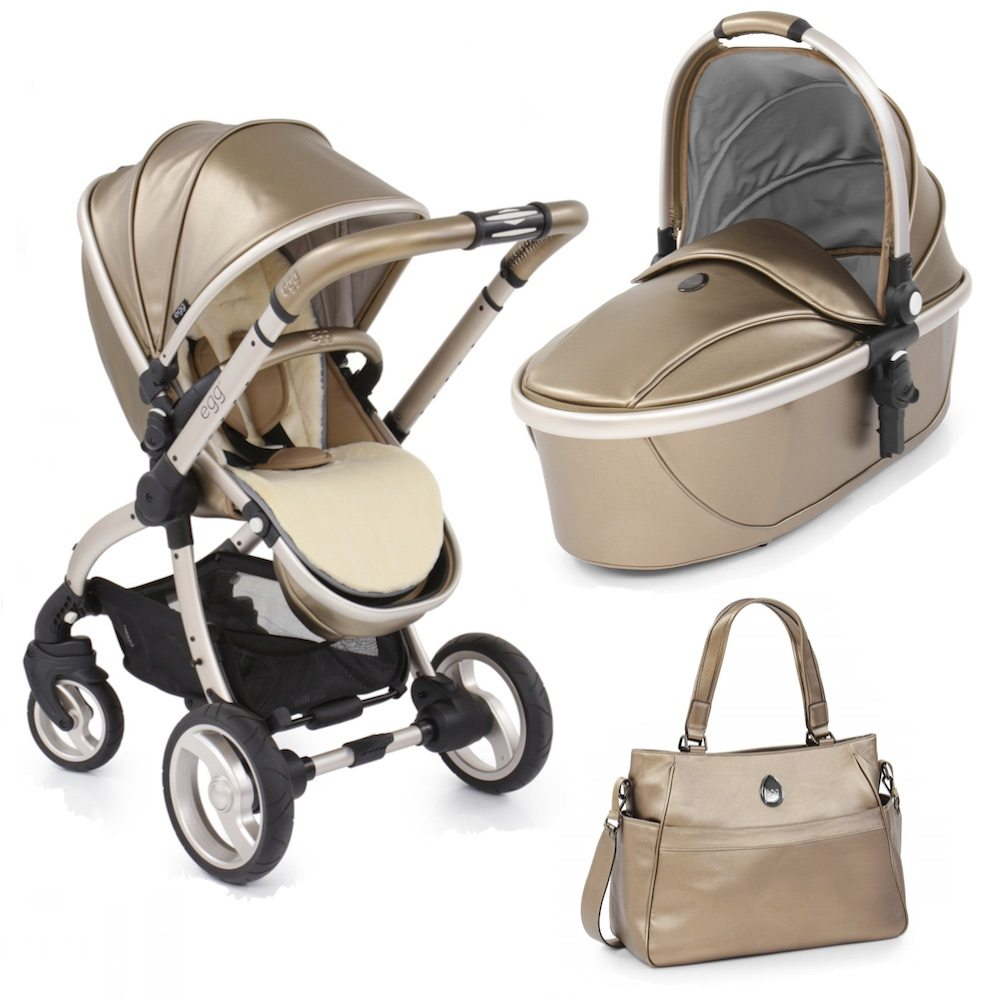 Egg Hollywood Special Edition Pushchair - Includes Carrycot, Fleece Seat Liner & Changing Bag