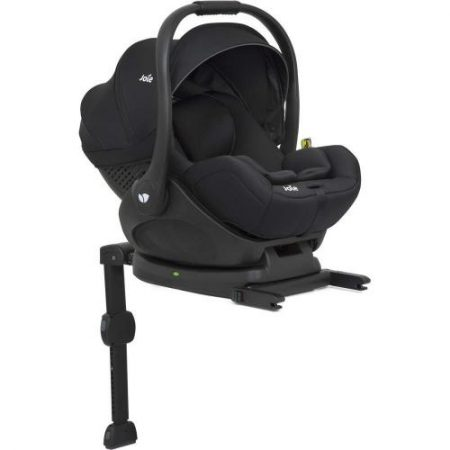 Joie i-Level iSize 0+ lie flat Car Seat and ISOFIX Base - Coal