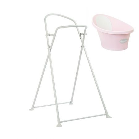 Shnuggle Baby Bath Pink & Foldable Stand From Birth -12 Months