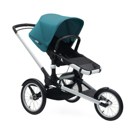 bugaboo runner leather look handle petrol blue
