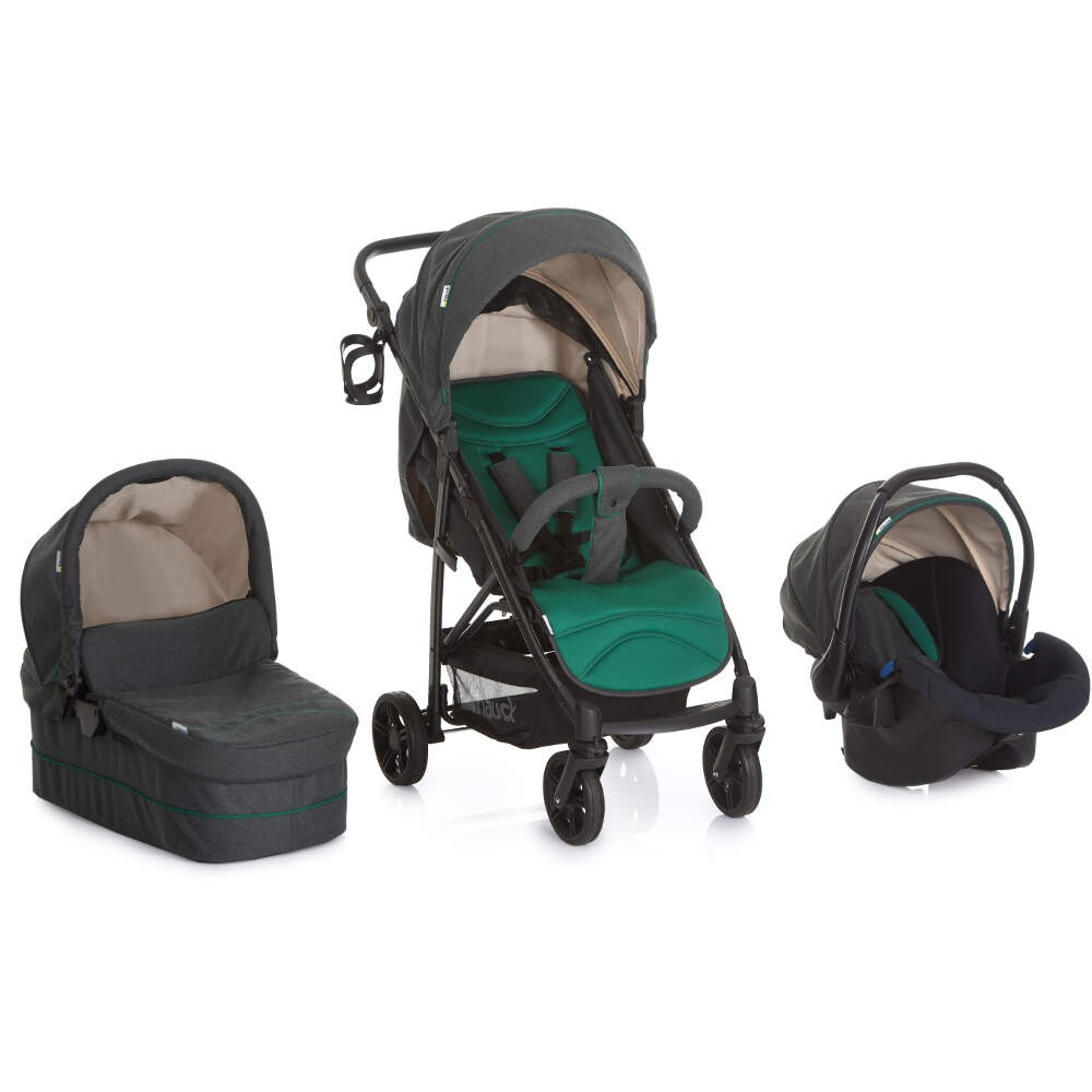 Hauck Rapid 4S Travel System, Pushchair, carrycot, Car Seat - Emerald