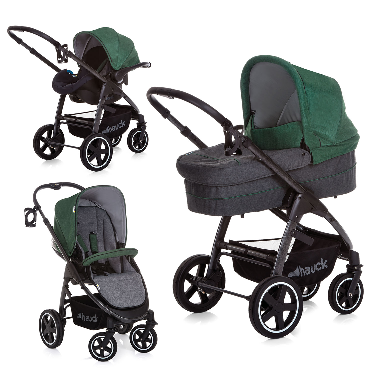 Hauck Soul Plus Trio Set Pushchair Carrycot Car Seat