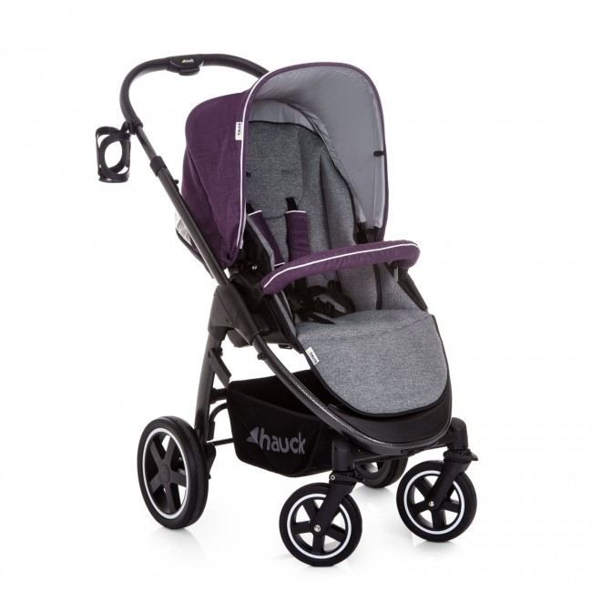 Hauck Soul Plus Trio Set 2018 Model, Pushchair, carrycot, Car Seat – Berry