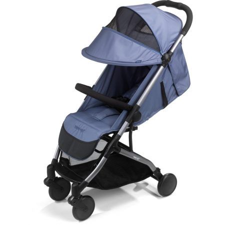 me go trio side view petrol blue stroller