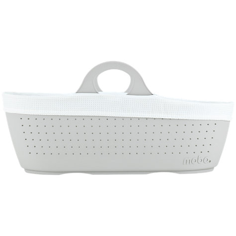 Moba Moses Basket & Liner - Dove Grey