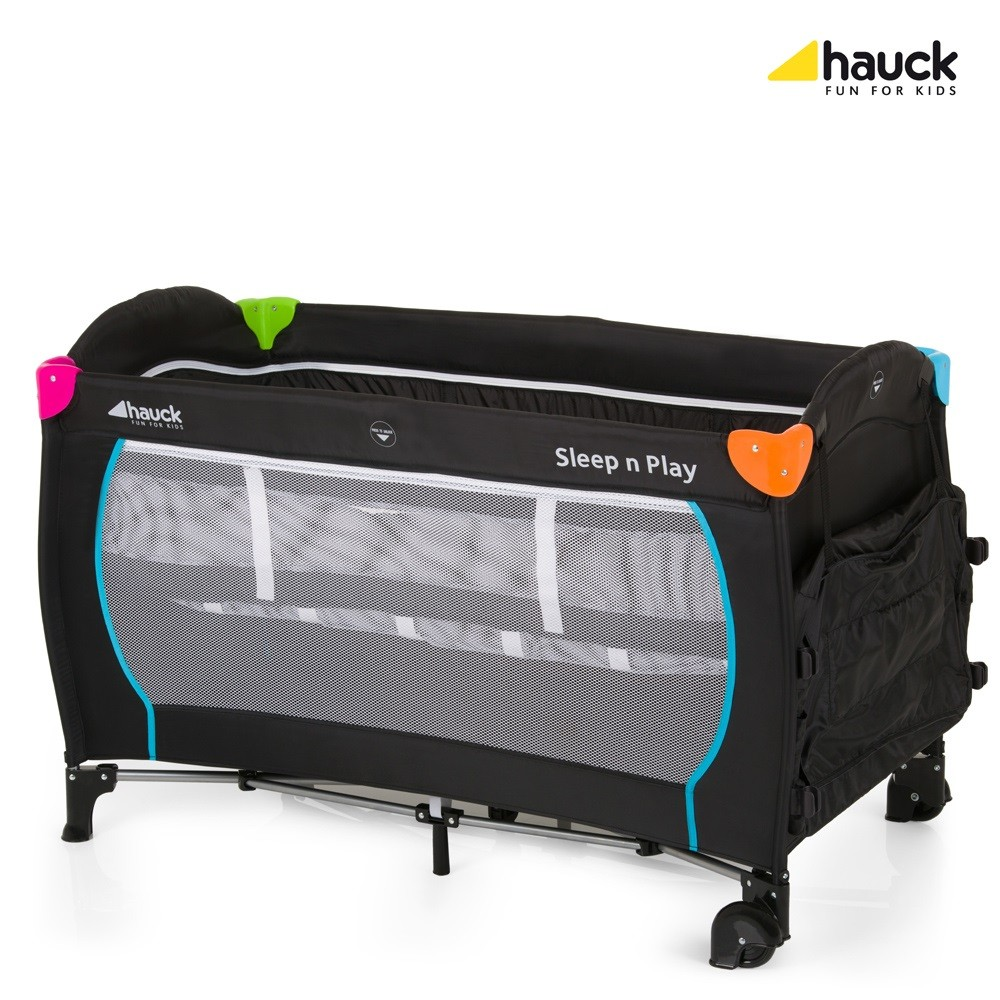 hauck sleep n play centre travel cot multicolour black. Black Bedroom Furniture Sets. Home Design Ideas