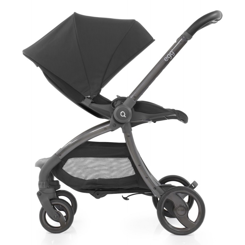 Egg Quail Stroller - Gotham Black including matching back panel
