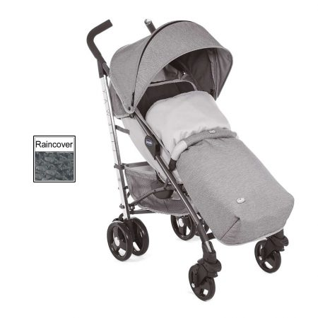 Chicco Liteway 3 Stroller Footmuff, Bumper Bar & Raincover From Birth - Titanium