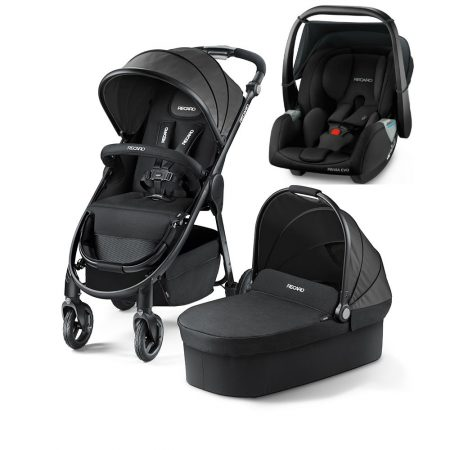 Recaro Citylife Travel System with Privia Evo Car Seat Carrier Black
