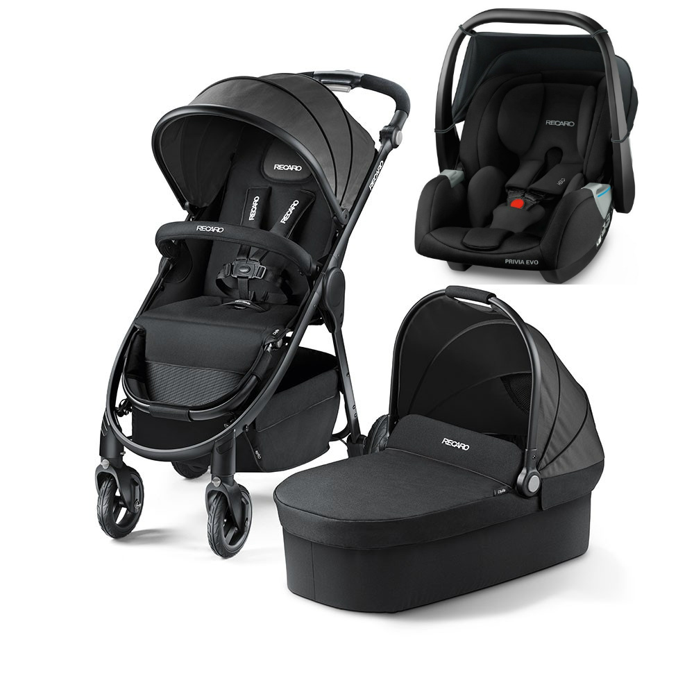 Recaro Citylife Travel System With FREE Privia Evo Car Seat Black