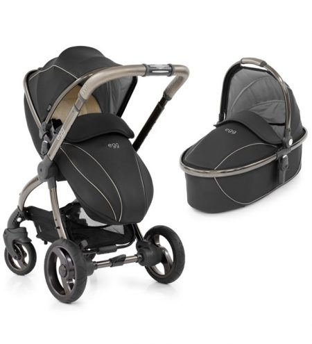 Shadow Black Egg Pram