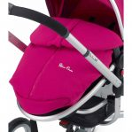 Silver Cross Surf Raspberry Footmuff on pram