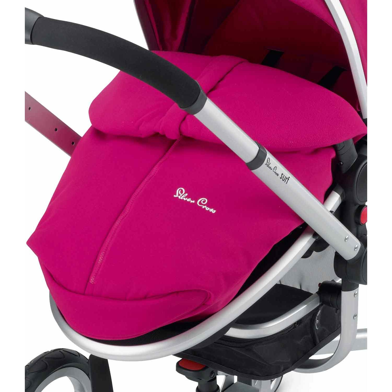 Universal Footmuff To Fit Icandy Raspberry Black//Pink