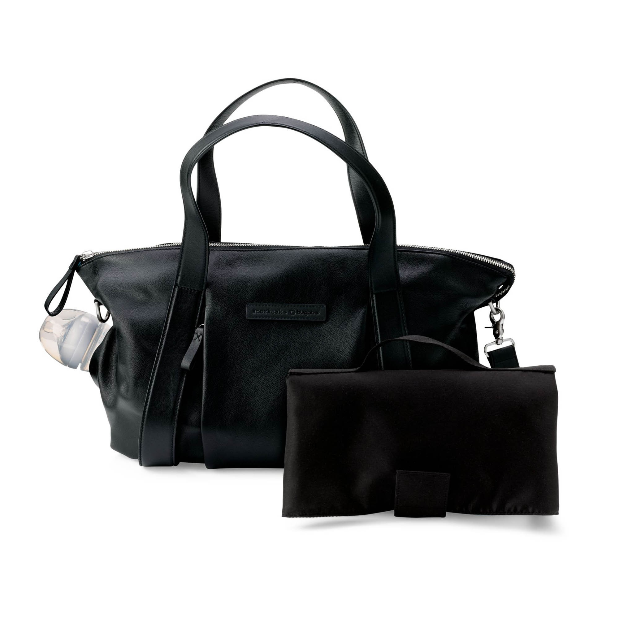 Bugaboo Storksak Leather Changing Bag – Black