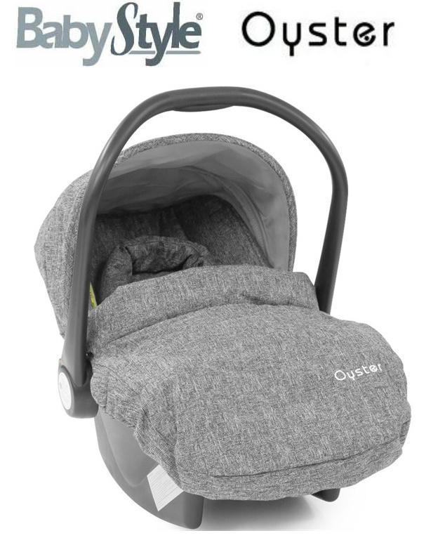 BabyStyle Oyster Group 0+ Car Seat - Special Edition Wolf Grey Inc: Head Hugger + Apron