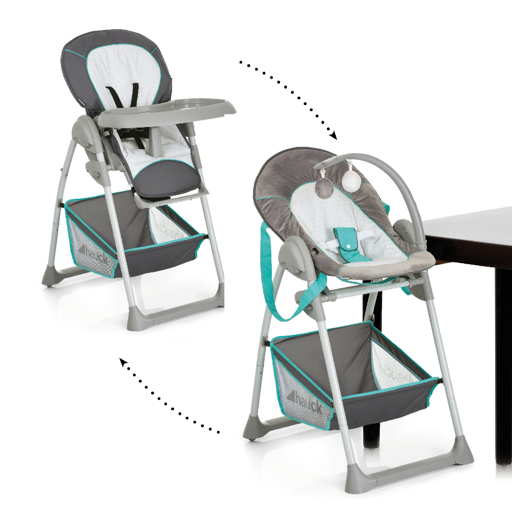 Hauck Sit n Relax Hearts - Highchair / Bouncer Removable Snack Tray