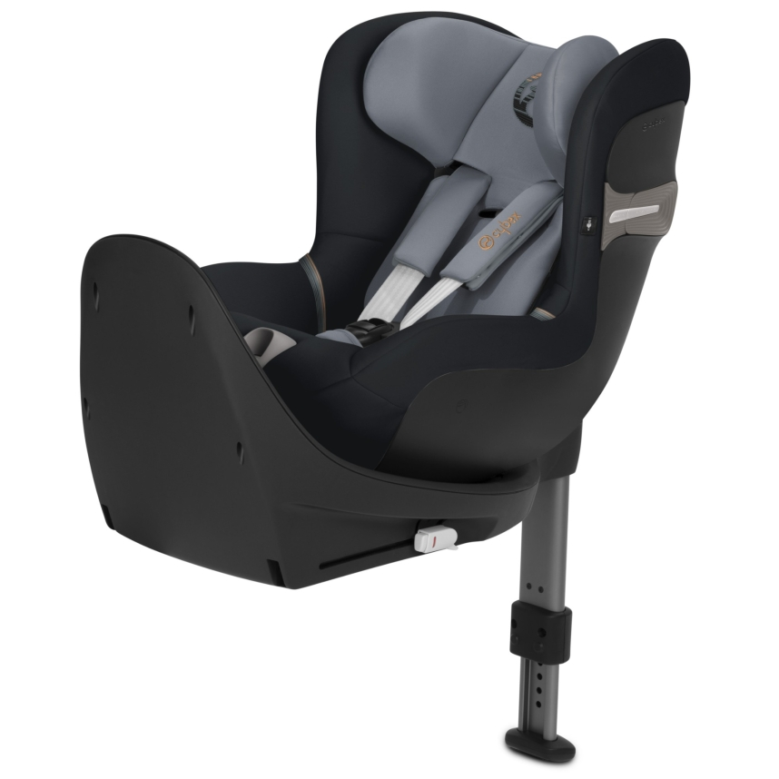 Cybex Sirona S i-Size Car Seat & Base. Extended Rearward Facing - Black Pepper