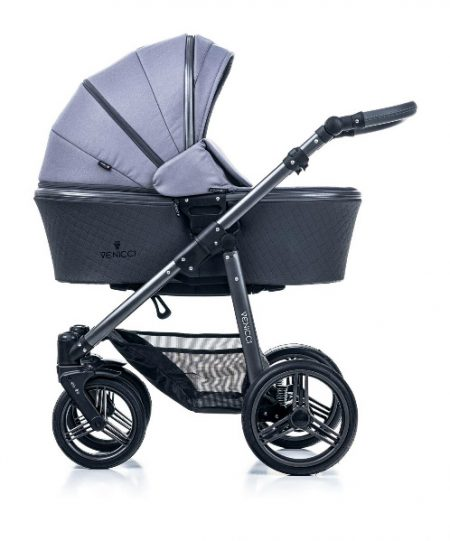 Venicci Carbo Natural Grey - Graphite Chassis Package