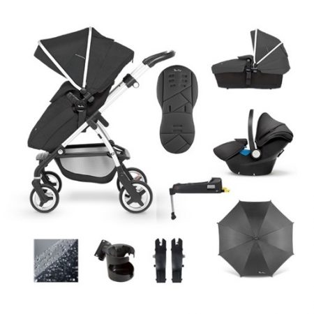 Silver Cross Pioneer 11 Piece Package Bundle - Onyx