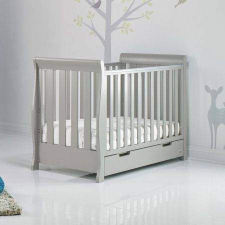 Obaby Stamford Mini Cot Bed - Warm Grey