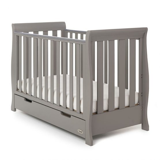 Obaby Stamford Mini Cot Bed Taupe Grey