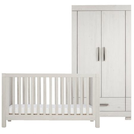 Silver Cross Coastline Cot Bed & Wardrobe