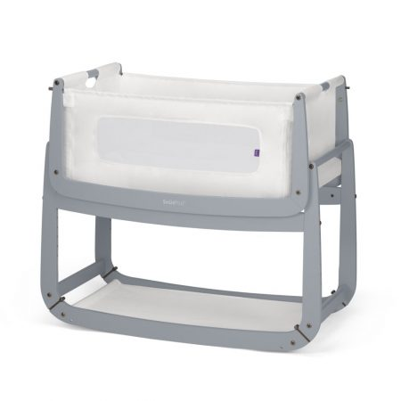 Snüzpod 3 Bedside Crib & mattress- Dove Grey